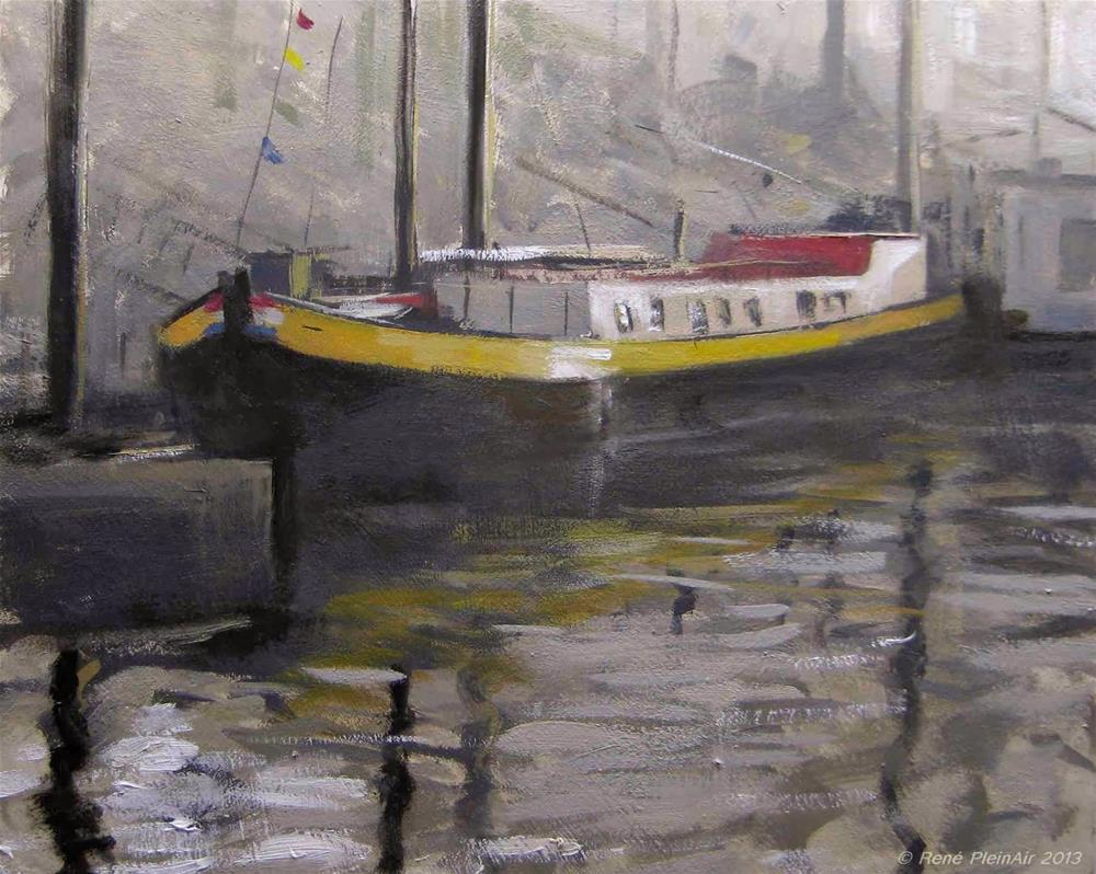"""De Johanna. Nijmegen, Holland."" original fine art by René PleinAir"