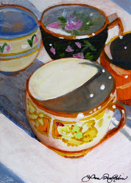 """Tea For Me"" original fine art by JoAnne Perez Robinson"
