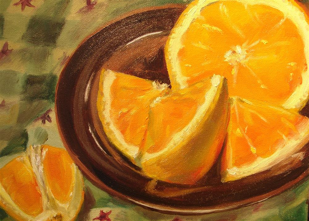 """One Orange"" original fine art by Linda Lowery"