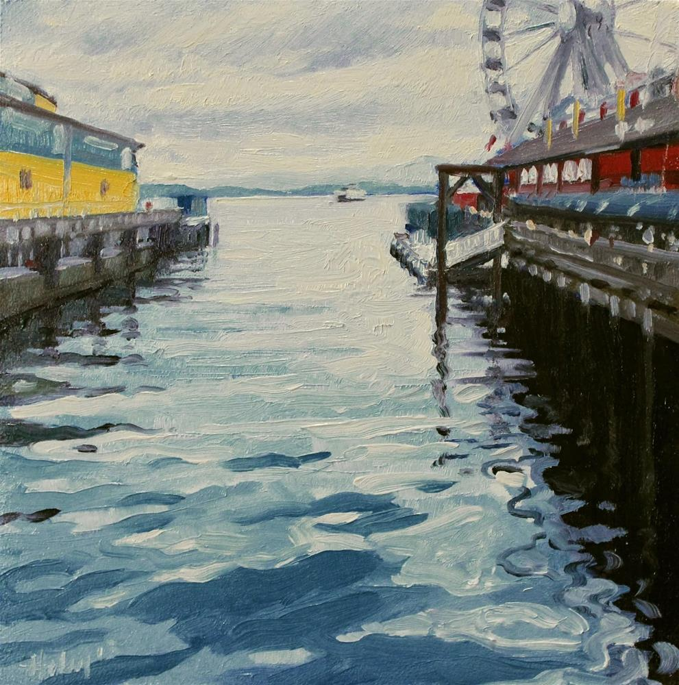 """Pier 57"" original fine art by Ski Holm"