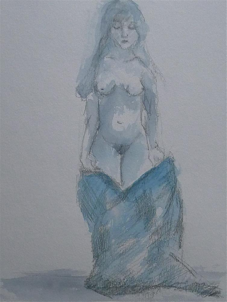 """Nude - after Picasso"" original fine art by Ulrike Schmidt"