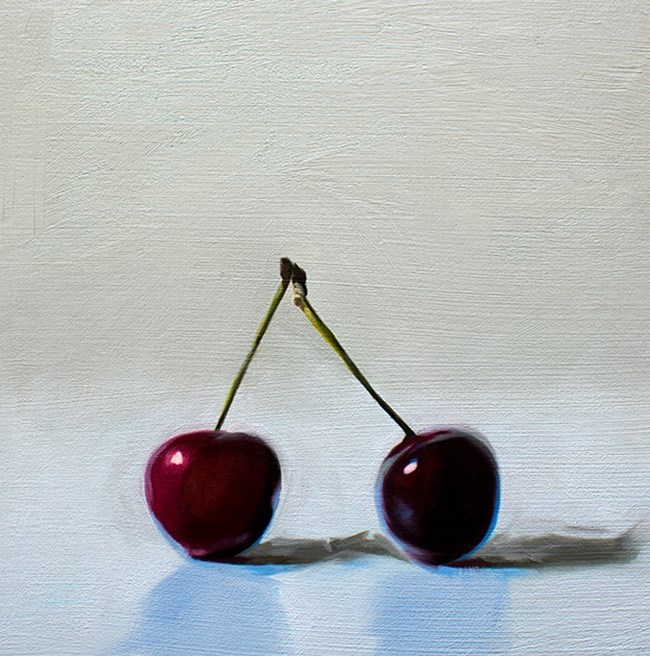 """Cherry Duo"" original fine art by Lauren Pretorius"