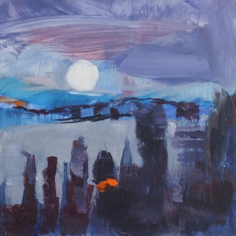 """Night Light"" original fine art by Meredith Adler"
