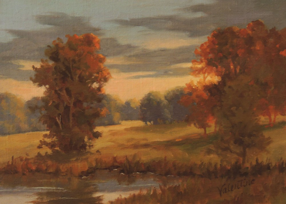 """Glenwood Sunset"" original fine art by Barbara Valentine"