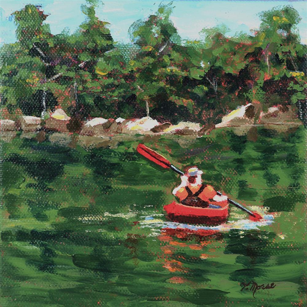 """Paddling Downriver"" original fine art by Theresa Morse"