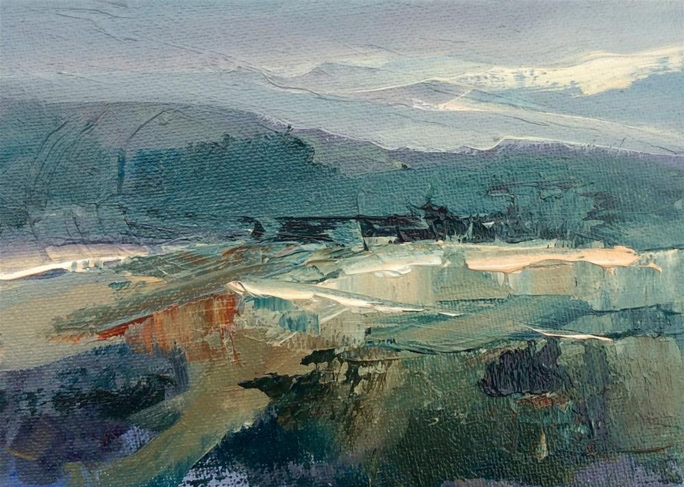 """Estuary"" original fine art by Anne Wood"