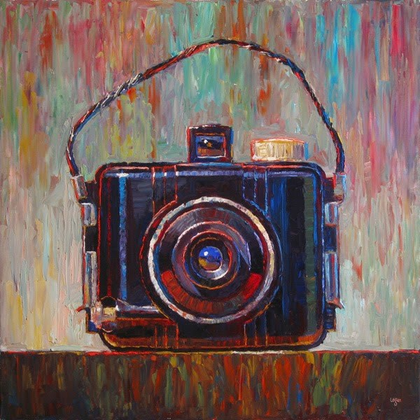 """Big Baby Brownie Camera"" original fine art by Raymond Logan"