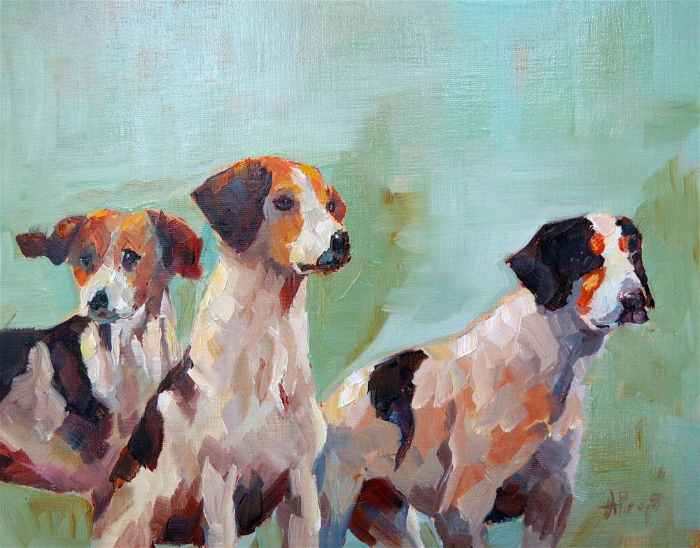 """Three Buddies"" original fine art by Anne Marie Propst"