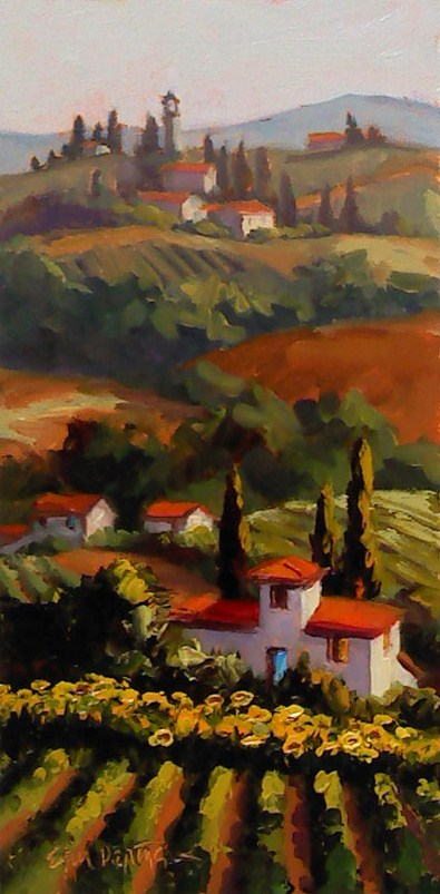 """Layer Upon Tuscan Layer"" original fine art by Erin Dertner"