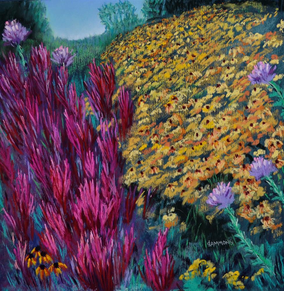 """""""New Paltz Gardens"""" original fine art by Laurie Sammons"""