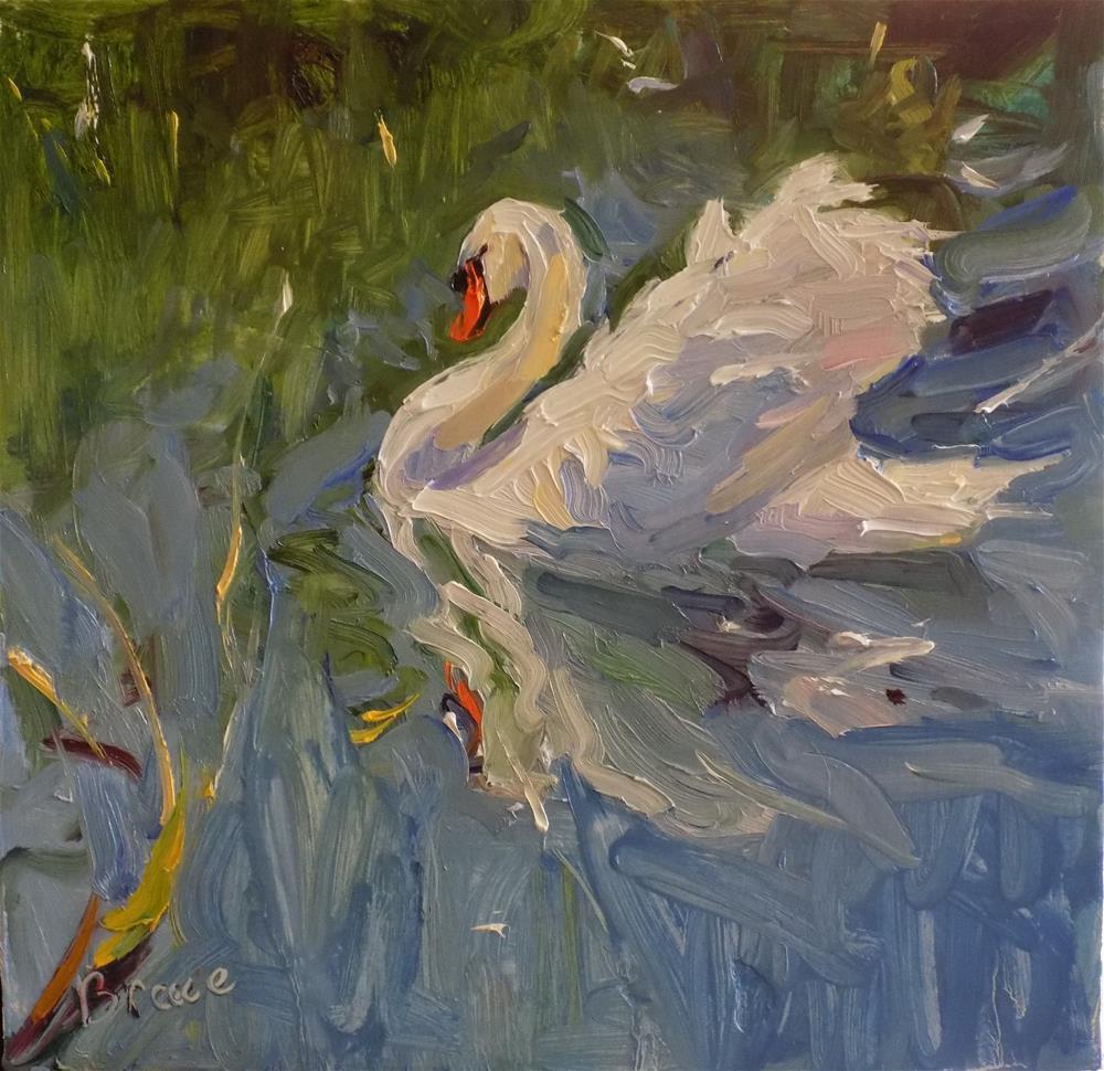 """The Swan"" original fine art by Rita Brace"