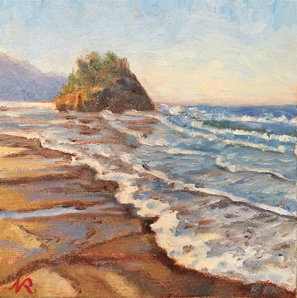 """Neskowin beach"" original fine art by Natasha Ramras"