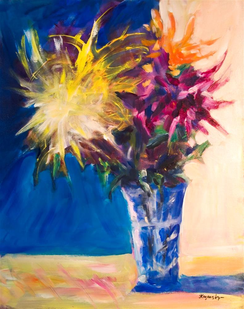 """Chrysanthemums"" original fine art by Yulia Kazansky"