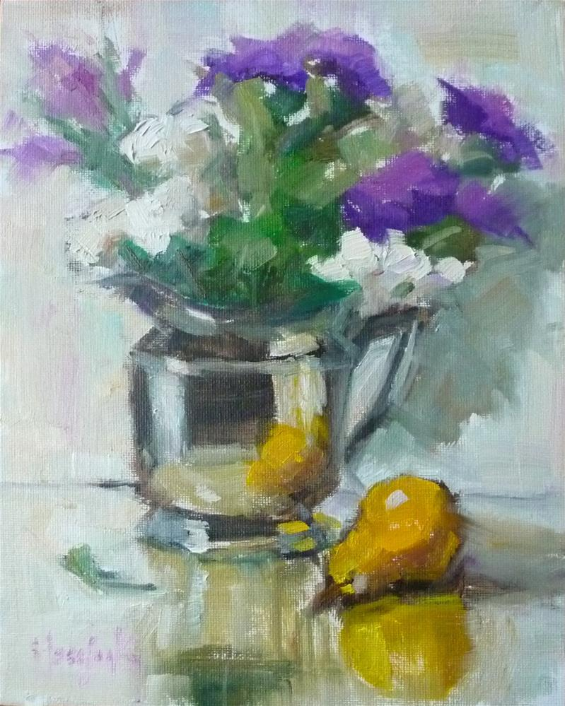"""Purple and White"" original fine art by Carol Josefiak"