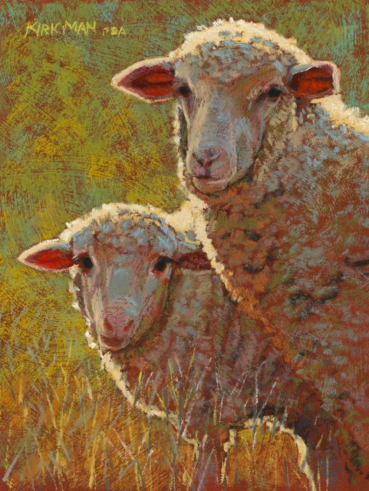 Fleecia and Little Wooley original fine art by Rita Kirkman