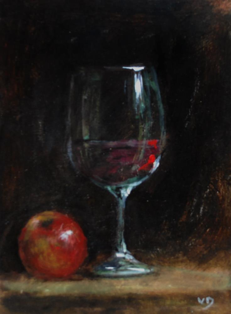 """apple2"" original fine art by vishalandra dakur"