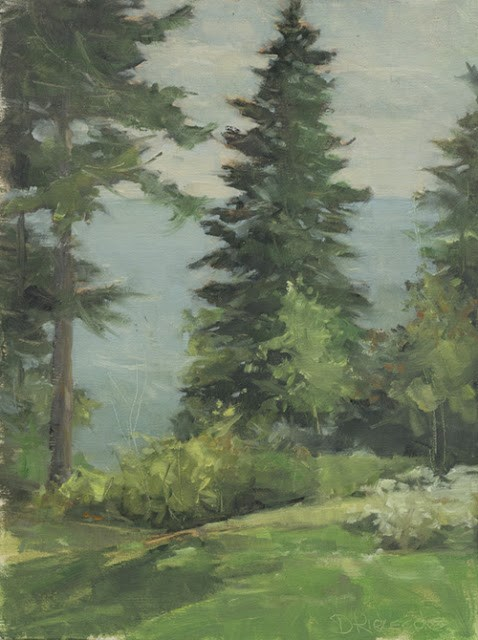 """A Lake  Superior View - Lake Superior Landscape painting"" original fine art by Deb Kirkeeide"