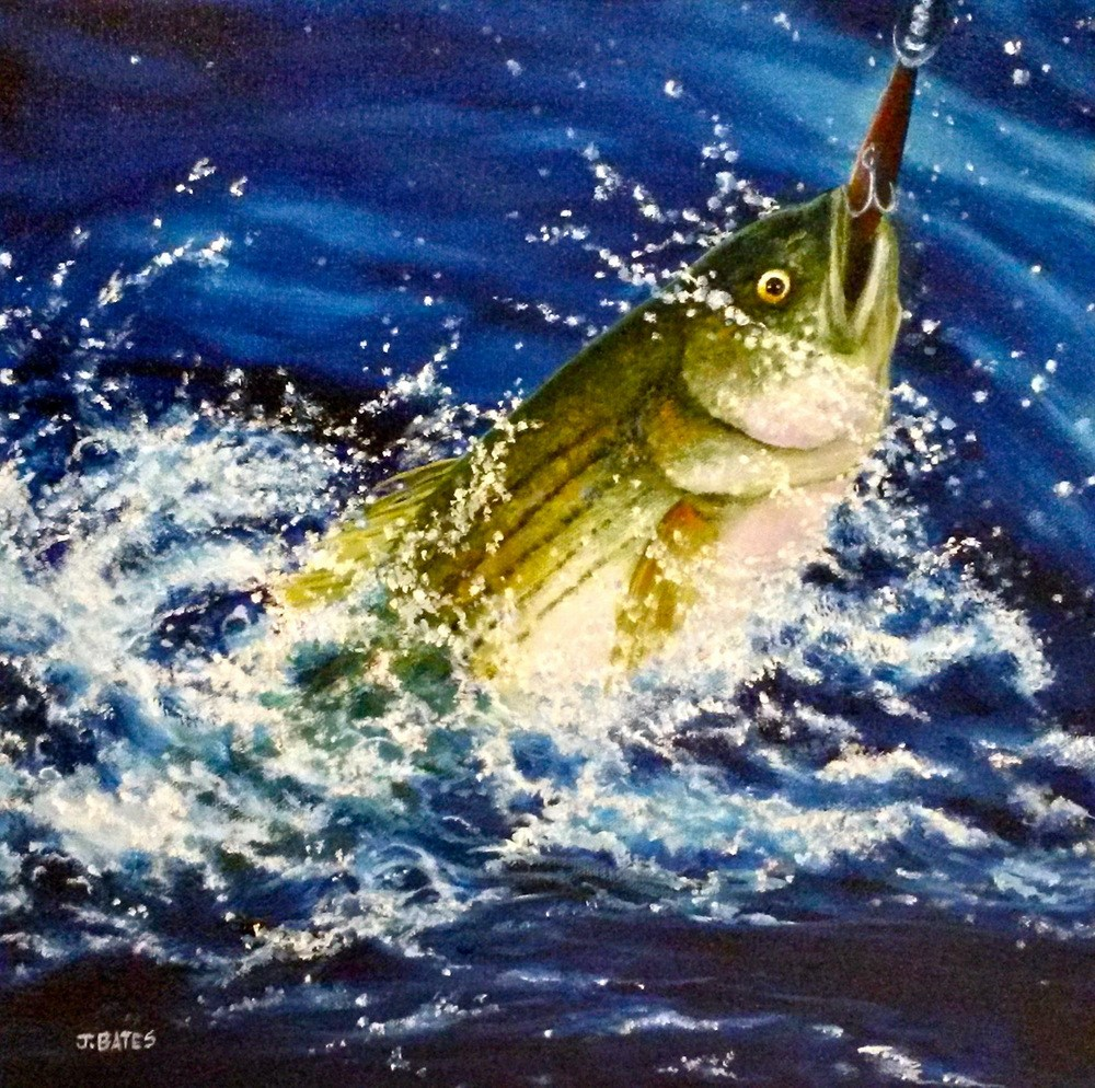 """Catch and Release"" original fine art by Jill Bates"