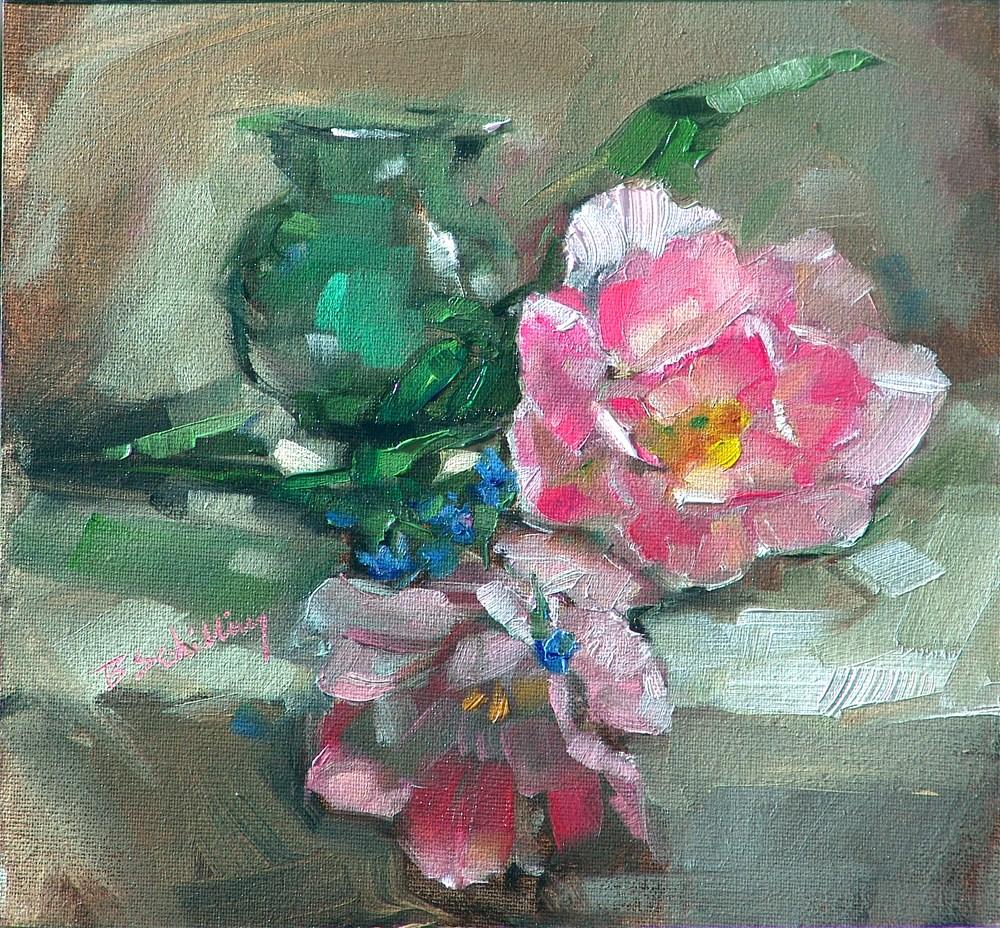 """Angelique Tulips"" original fine art by Barbara Schilling"