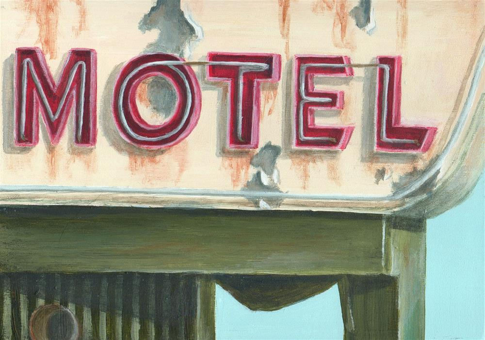 """Motel"" original fine art by Debbie Shirley"