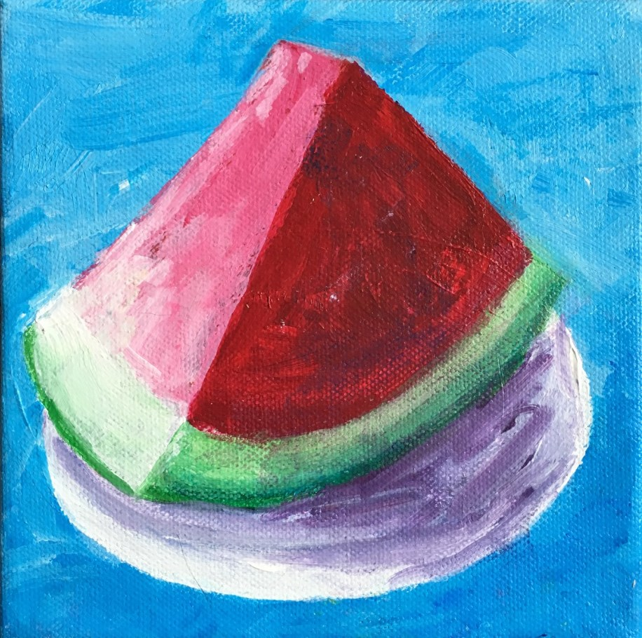 """Watermelon Slice"" original fine art by Betsy Cook"