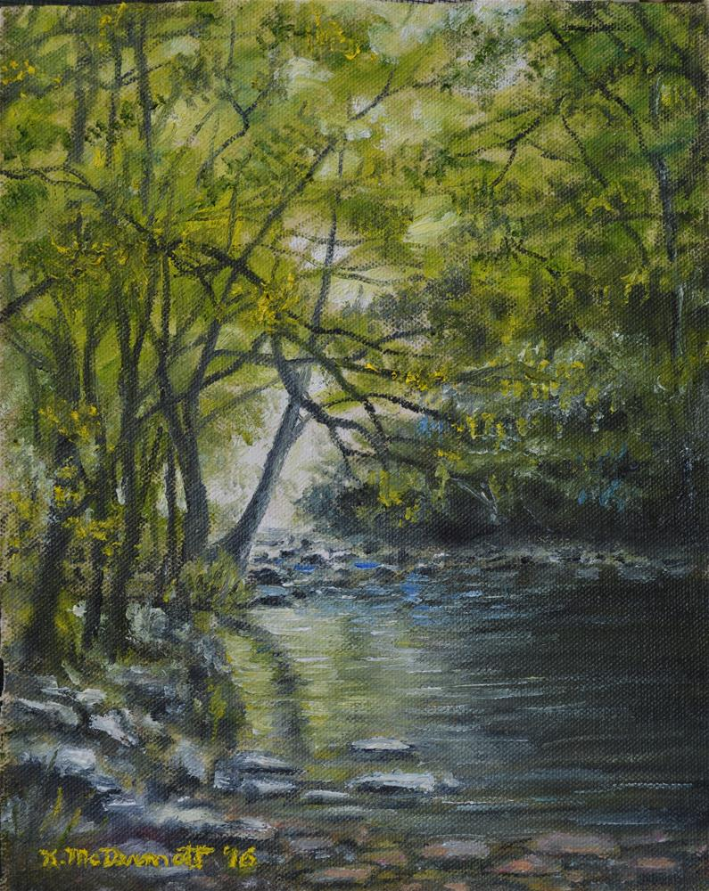 """Shady Stream"" original fine art by Kathleen McDermott"