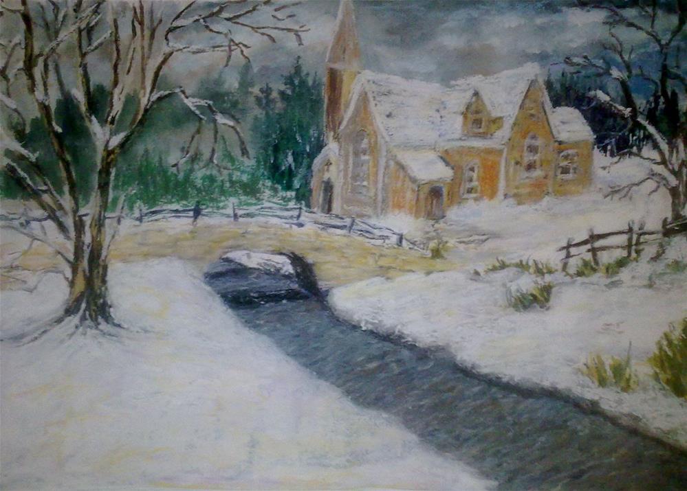 """Stonebridge - Print"" original fine art by Jules Fine Art Gallery"