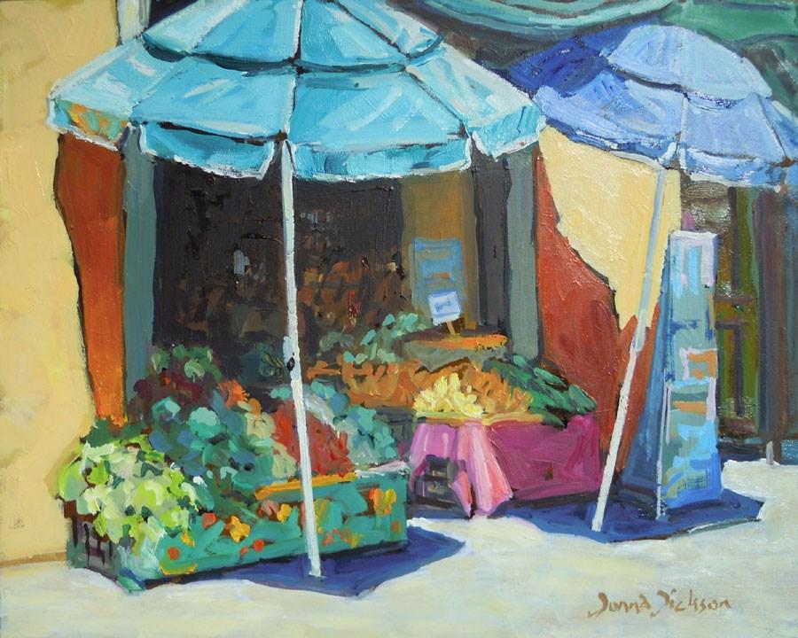 """""""FRUTAS AND VERDURAS COMONFORT MEX."""" original fine art by Donna Dickson"""