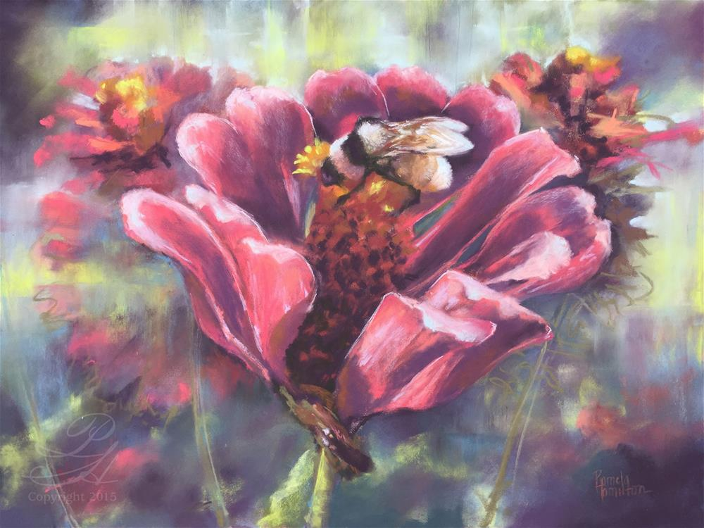 """The Buzz"" original fine art by Pamela Hamilton"