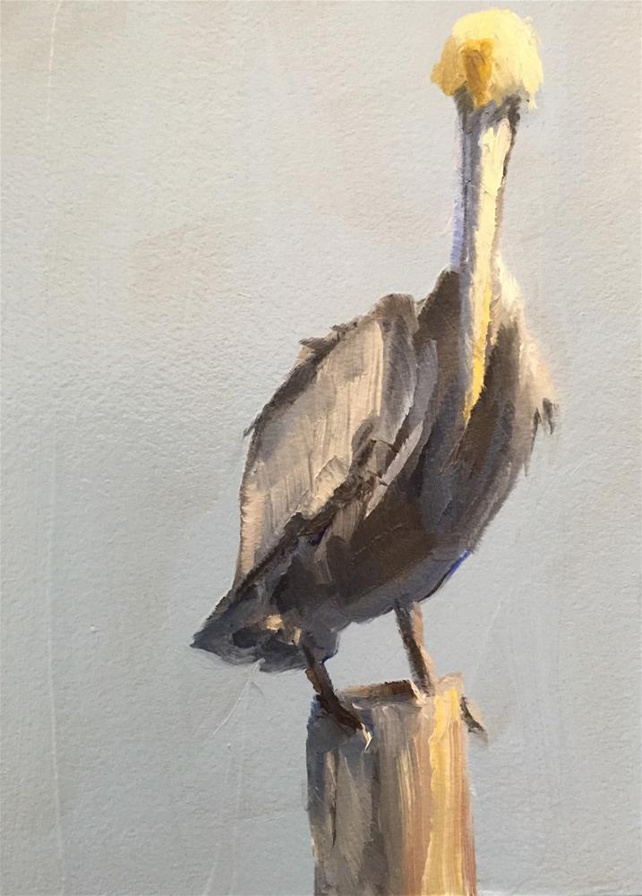 """Brown Pelican"" original fine art by Gary Bruton"