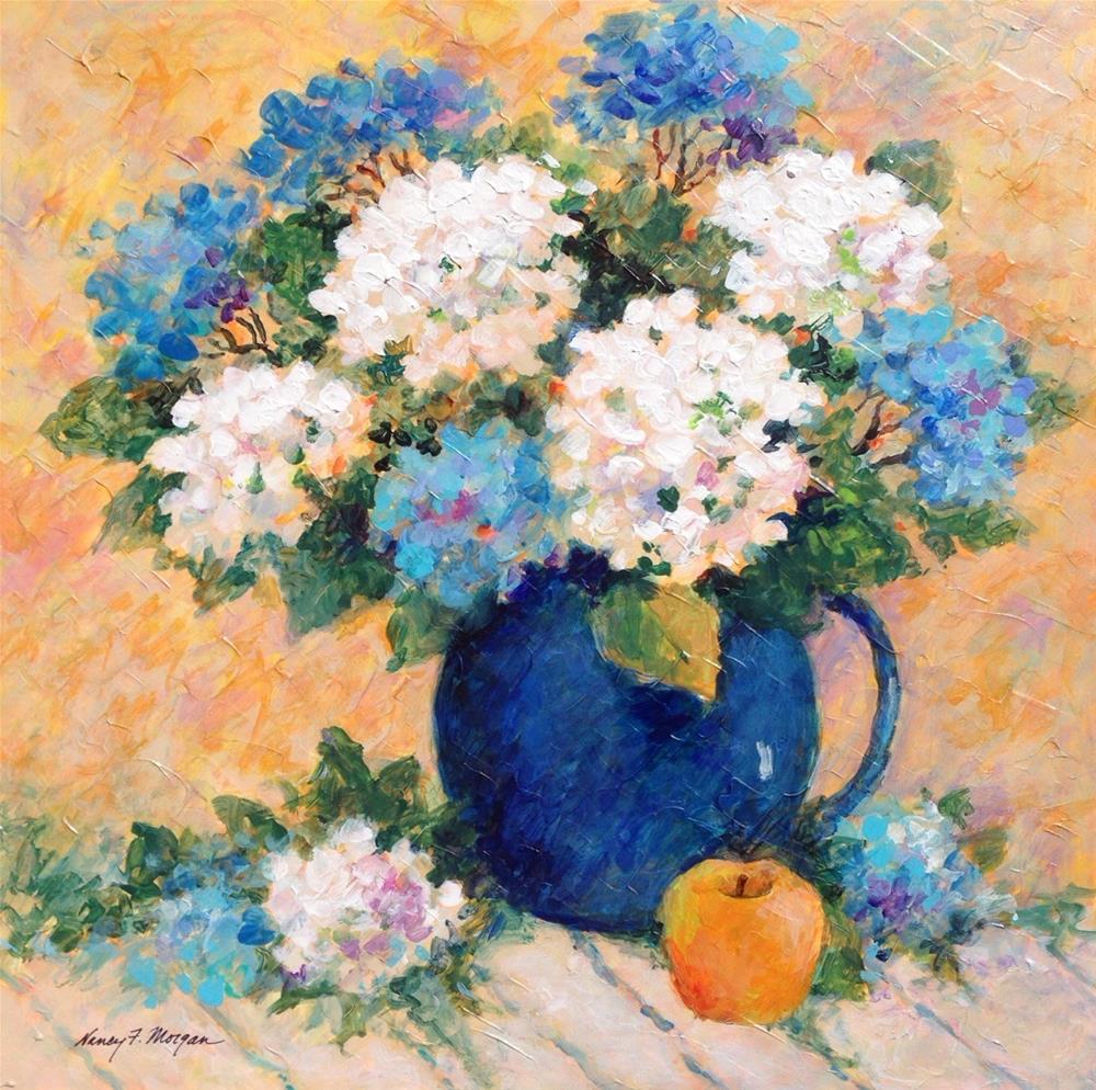 """Bits of Blue"" original fine art by Nancy F. Morgan"