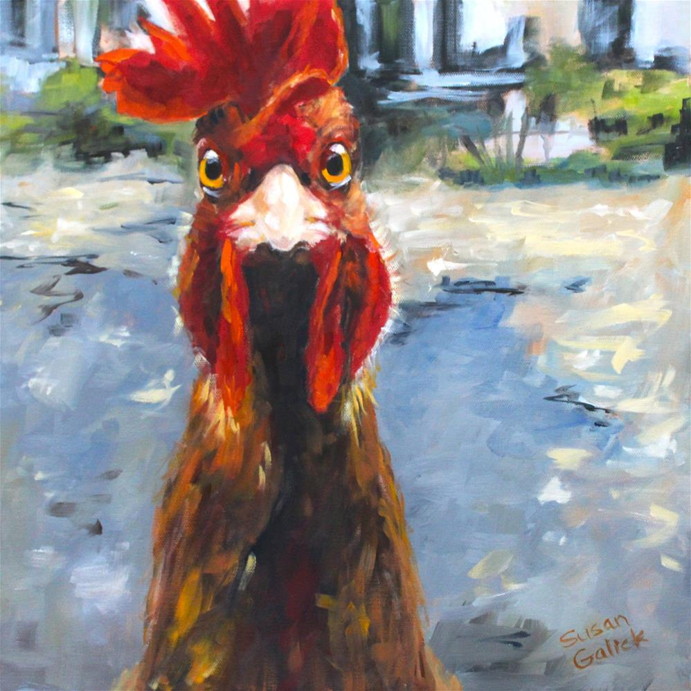"""I'm Outta Here!"" original fine art by Susan Galick"