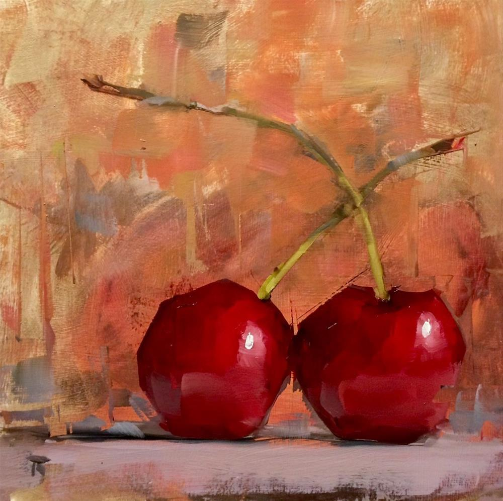 """Cherry Experiment"" original fine art by Thomas Ruckstuhl"