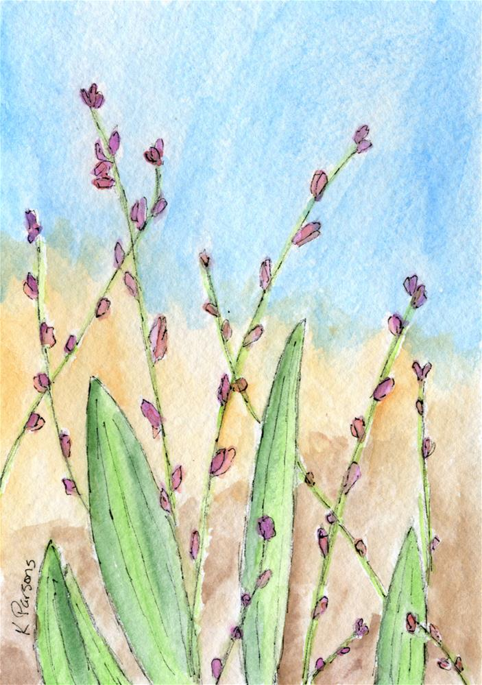 """Budding"" original fine art by Kali Parsons"