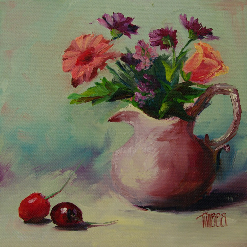 """Heirloom Bouquet"" original fine art by Lori Twiggs"