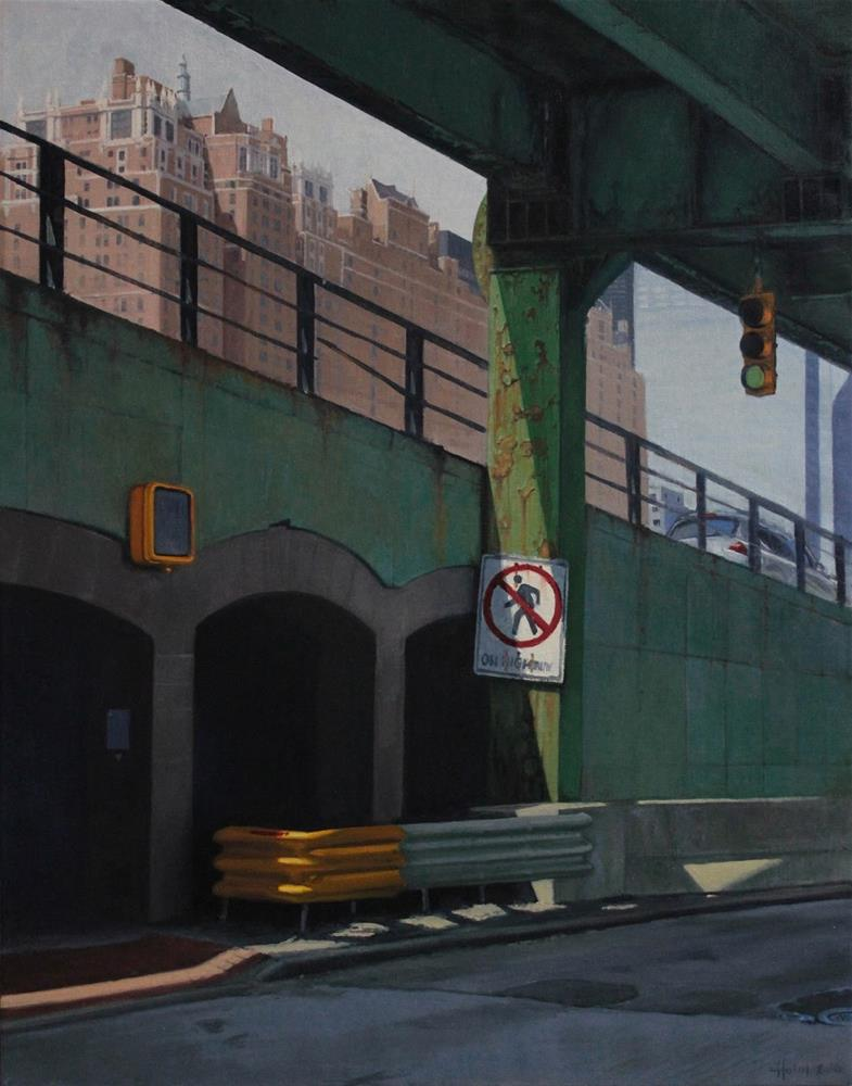 """""""Under the FDR"""" original fine art by Ski Holm"""