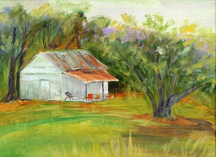 """Mr. Charlie's Shed"" original fine art by Sue Furrow"