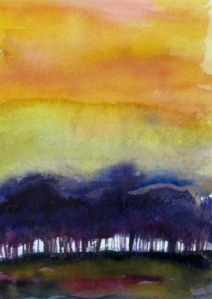 """Sunset on the Gulf"" original fine art by Patricia MacDonald"