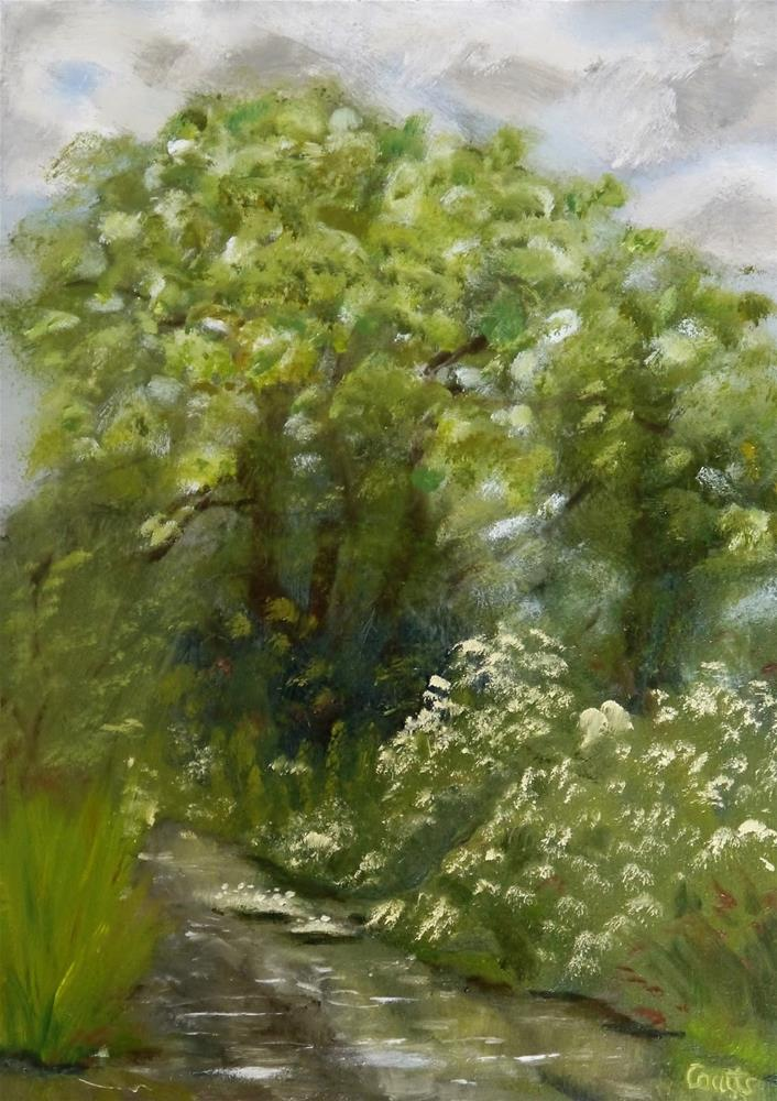 """""""By the Meon at Droxford"""" original fine art by Robin Coutts"""