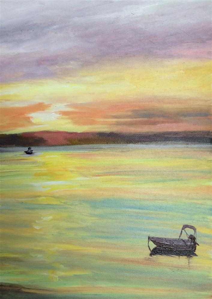 """Roxanne's Sunset"" original fine art by Kim Clay"