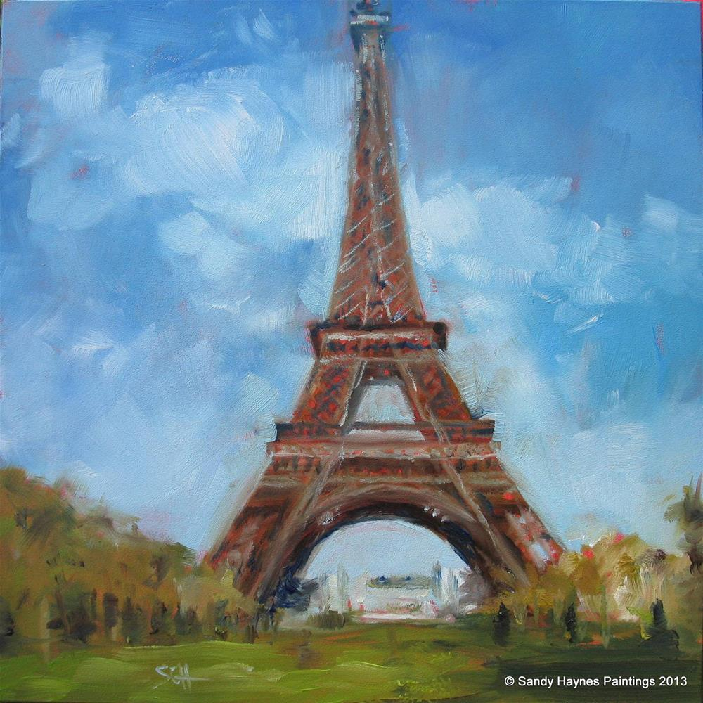 """Eiffel Tower #135"" original fine art by Sandy Haynes"