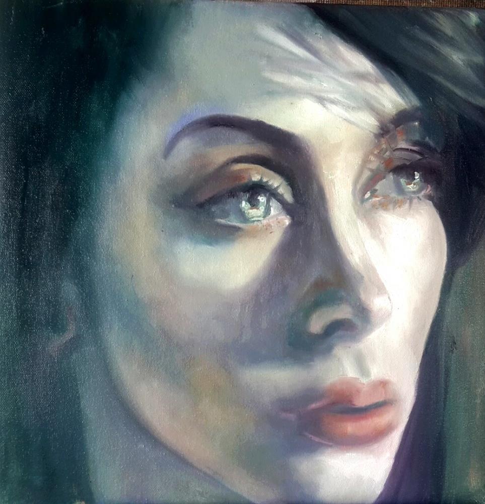 """""""The beauty of her"""" original fine art by Rentia Coetzee"""