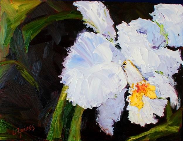 """White Orchid"" original fine art by Liz Zornes"
