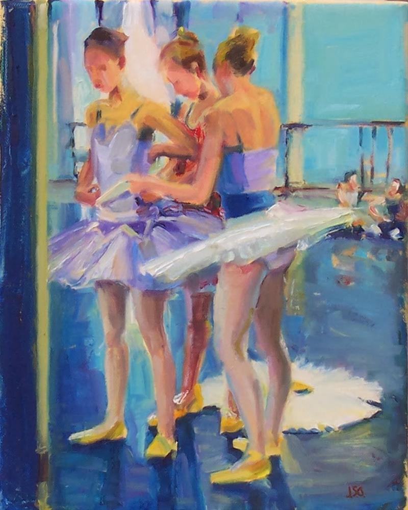 """Preparations,figure,oil on canvas,10x8,price$650"" original fine art by Joy Olney"