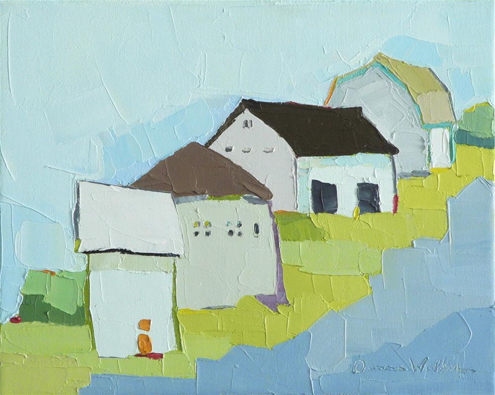 """""""Hilltop Farm"""" original fine art by Donna Walker"""