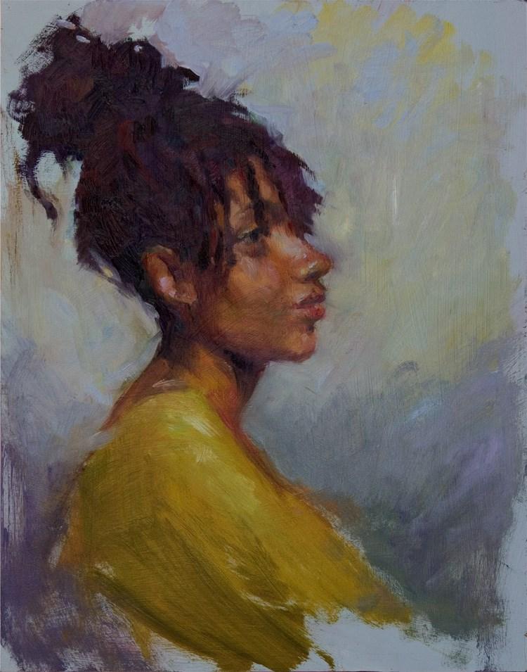 """Topaz"" original fine art by Julie Snyder"
