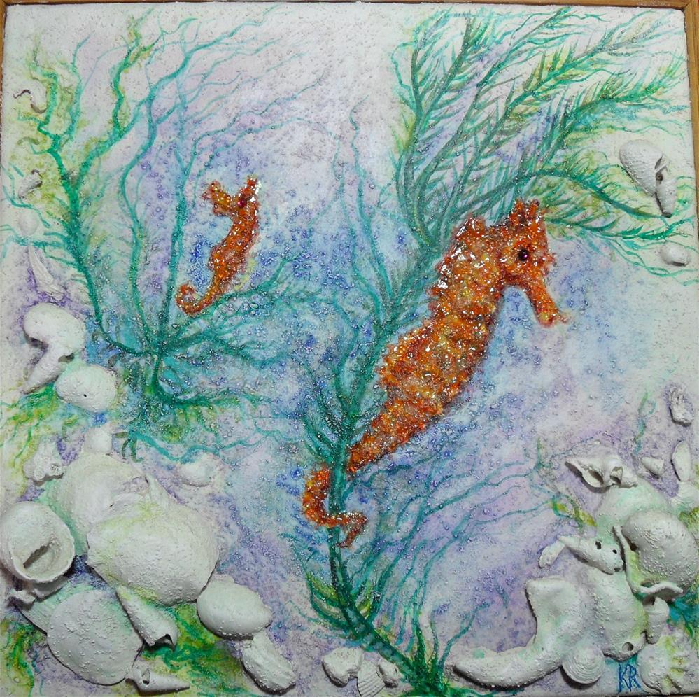 """Seahorse's Garden"" original fine art by Karen Roncari"