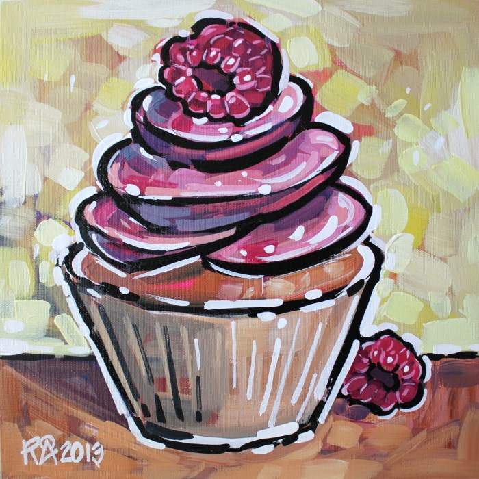 """Cupcake 19"" original fine art by Roger Akesson"