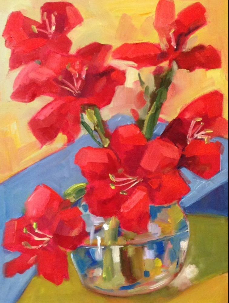 """Season Red"" original fine art by Libby Anderson"