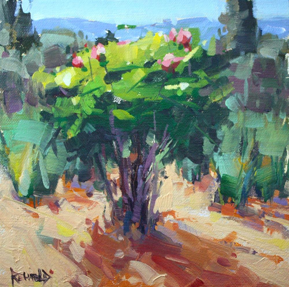 """Roses and Irises"" original fine art by Cathleen Rehfeld"